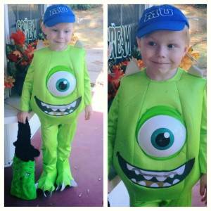Judah as Mike Wazowski